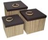 Square Lidi Storage Boxes Set Of 3