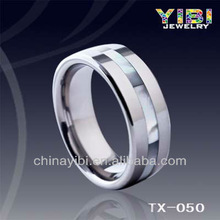 Sea Shell Pearl Tungsten Rings Chinese Jewellery Factory Tungsten Mood Stone Ring Wedding