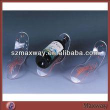 acrylic/plexiglass/perspex display rack for wine bottle
