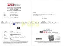 GRS Certificate 7.53 carat Vivid Royal Blue Sapphire