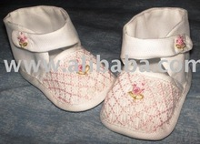 Smocked Baby Shoes