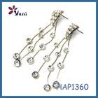 Wholesale Silver Custom Diamond Dangler Earrings for Girls