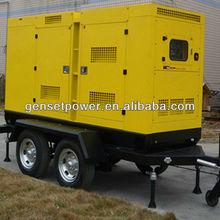 100kva AC Engine Diesel Power 80kw Trailer Generator With CE