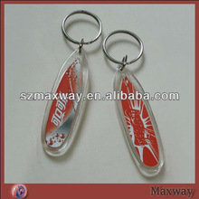 pop oval-shaped acrylic photo keychain
