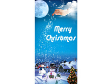 Bn437 Merry Christmas Santa Claus Turkey Gifts Stocking Jesus Happy Banner Sign