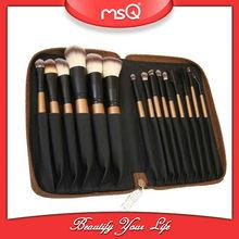 MSQ 15pcs high quality nylon hair cosmetic brush