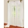 Elegance Sheer V0lle 84 Inch Panel-White Curtain