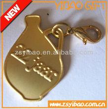 Wholesale custom metal keychain charm keychain with lobster clip