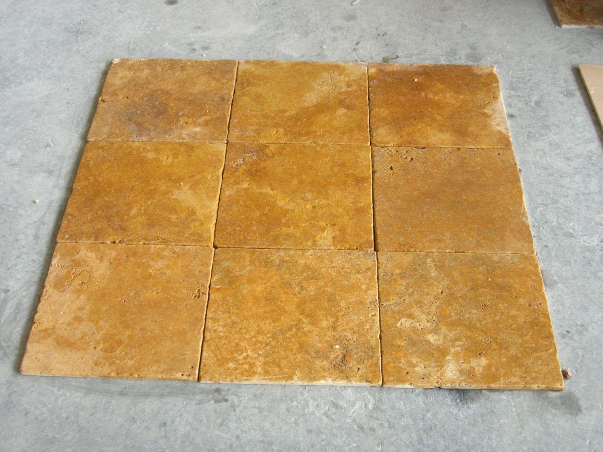 Yellow Travertine Tumbled Tiles View Tiles Product