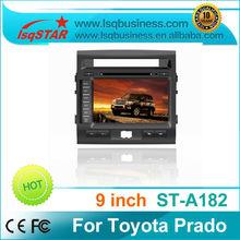 LSQ Star 9 inch car dvd player for Toyota new Prado with gps,3G,radio,6CDC, PIP,dual zone,Best quality!