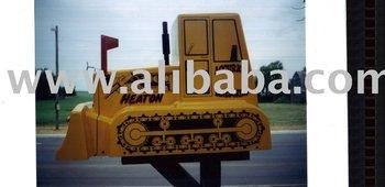 Bulldozer Mailbox-Jumbo
