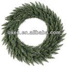60cm green pvc wholesale artificial christmas wreaths