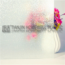L004 window film 3D 0.3mm deep embossing Laminated printing self adhesive window film decorative Removable static cling window f