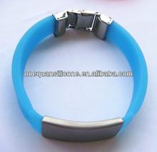 Shenzhen factory supply glow in dark kids silicone ID bracelet