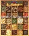 Sumac , orégano , secas de pimentão , pó e pimentão esmagado , mint , cominho , , salsa , coentro , pistache , amarelo de uva seca