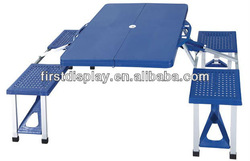 ABS/plastic portable camping table for 4 persons