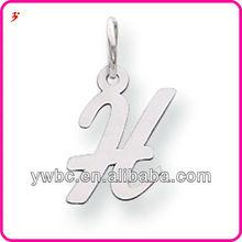 Unique initial H letter alloy charm vners wholesale