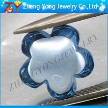 blue lucky flower beads glass gemstone