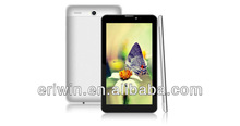 newest 7inch MTK6577 dual core CPU 1024*600pixel phone calling dualcamera GPSbuletooth video player zigbee tablet pc