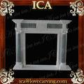 Baratos repisa de la chimenea, de estilo francés de mármol repisa de la chimenea, embarcaciones de estufa chimenea insertar lm0018