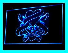 100055B Tattoo Snake Stapling Unicorn Lucky Poker Modern Lucky LED Light Sign