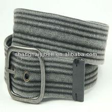 fashion man strip belts casual canvas belts washed cotton belts