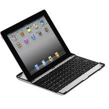 Metal Aluminum Bluetooth 3.0 keyboard case cover for new Ipad 2 & 3 slim stand