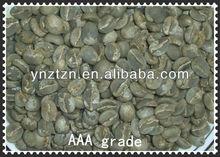 top quality green coffee bean origin from China,screen 18>90