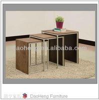 dark wood nest of tables