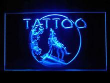 100094B Tattoo Lizard Lesbian Love Awesome Stapling Snake Style LED Light Sign