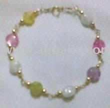 10k Bracelets With Crystal Beads