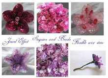 Sequin Jewel Flowers-Artificial Flowers