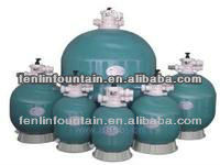 sand filter for water treatment with water pump