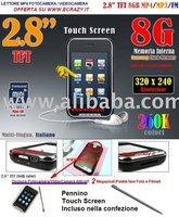 Lettori MP4 Touch Screen 8gb FM + MP3 + Video camera Integrata