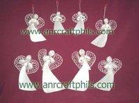 Abaca Flat Angels Christmas Decor