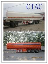 3 Axles type 50000 liters oil/fuel/water tank semi trailer for sale