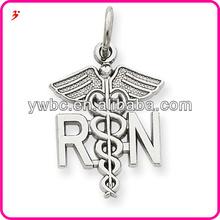 silver registered fashion jewellery nurse charm