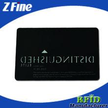 full color printed matt black metal card