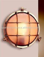 Polished Brass Round Bulkhead Light