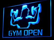 160020B Gym Open Muscle Aerobic Men Weight-Lifting Coach Equipment LED Light Sign