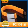 High quality color silcone usb drive bracelet