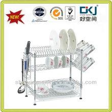 Chkj- c073 3 capas de cromo cocina placa de metal rack