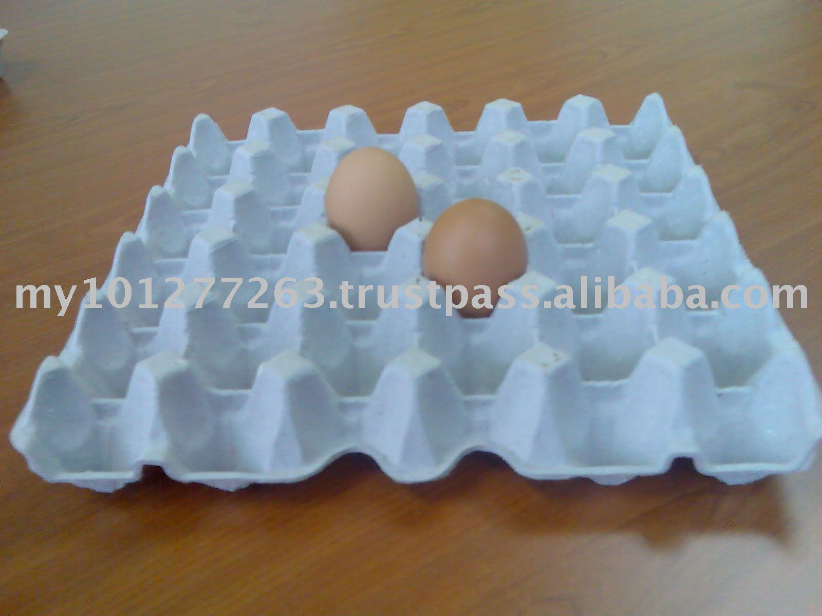Bac d' oeuf et boîtes à œufs en papier