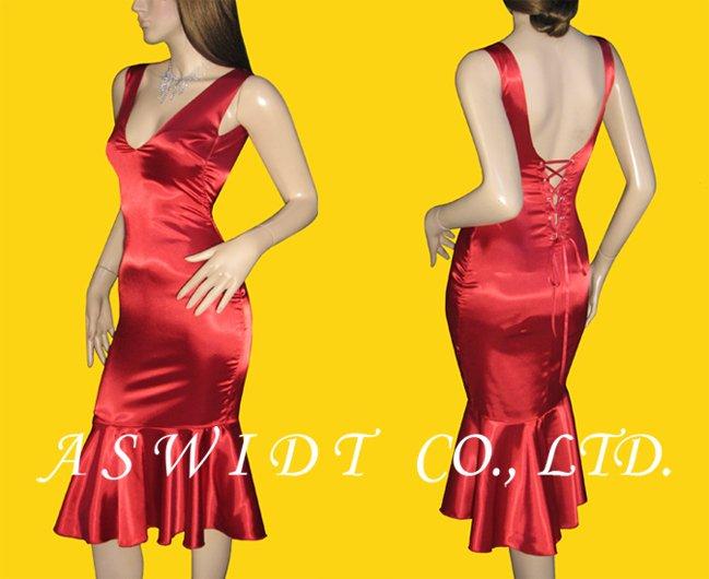 corset dress back. Fish Tail Corset Dress