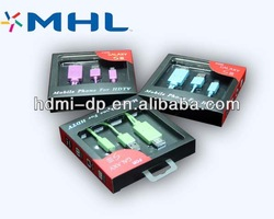 mini hdmi to rca cable micro usb mhl cable for samsung s3