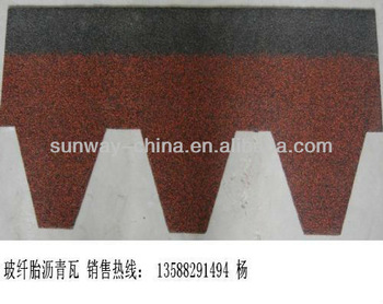 MosaicType Asphalt Shingles in China red