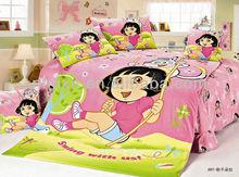 girl style children bedding set, cotton cartoon design