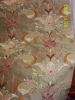 Art Decco Embroidered Dupioni Fabric