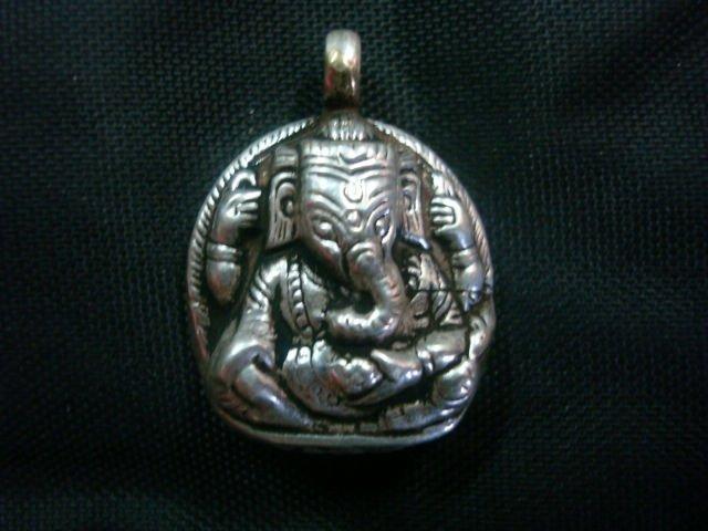 Plata pendiente del Locket - 925 de plata de ley Ganesh colgante