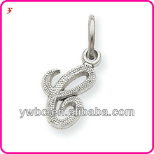 Special yiwu designs initial C letter white alloy alphabet charms jewelry accessory